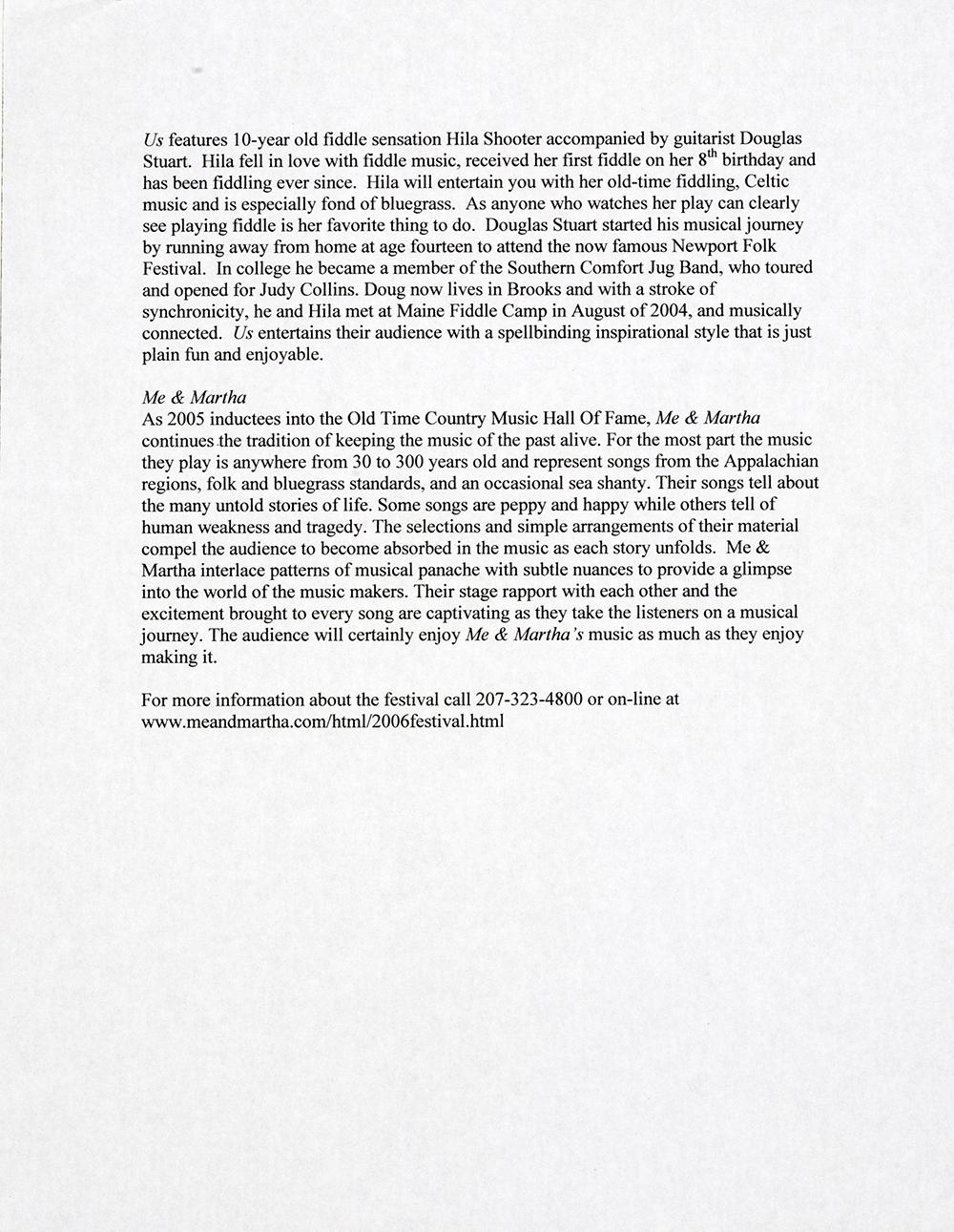 BIOG-0699, 1st Annual Spring Mid-Coast Festival, Page 2