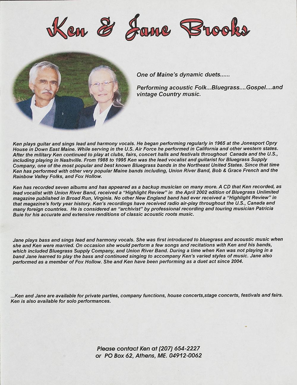 BIOG-0934, Ken And Jane Brooks