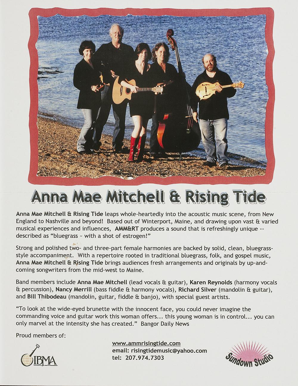 BIOG-0991, Anna Mae Mitchell & Rising Tide, 2008