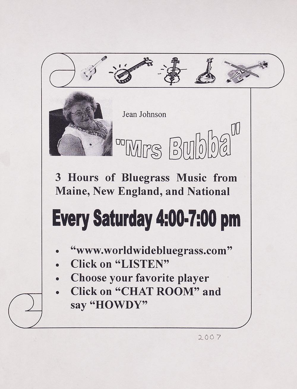 BIOG-1700, Mrs. Bubba-Jean Johnson, 2007