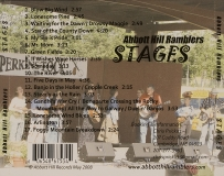 CD-0314, Abbott Hill Ramblers, Stages