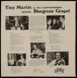 LP-0322, Tim Martin & The Countrysiders, Singing Bluegrass Gospel, back side