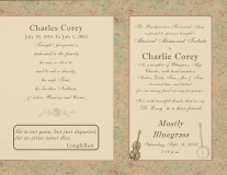 MISC-0043, Musical Memorial Tribute To Charles Corey, 2002