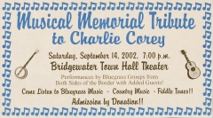 MISC-0045, Musical Memorial Tribute To Charlie Corey