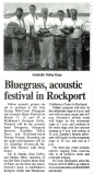 NEWS-0009, Midcoast Bluegrass Festival Article