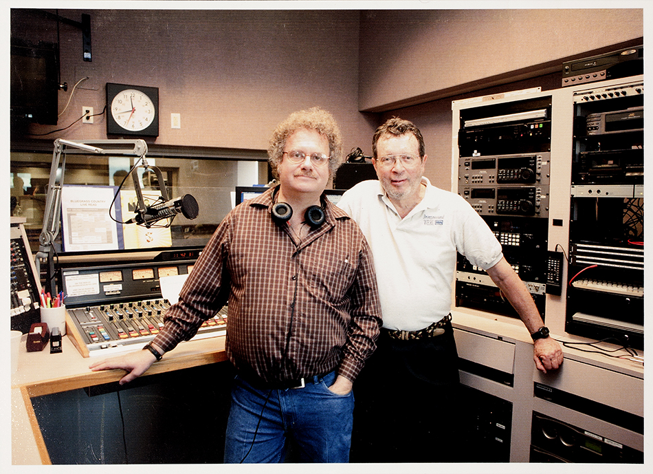 PHOT-1740, Lee Michael Demsey and Darwin Davidson at WAMU Broadcast Studio