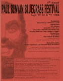 POST-0017, 4th Annual Paul Bunyan Bluegrass Festival, 2008