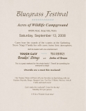 POST-0024, Bluegrass Festival, Acres Of Wildlife Campground, 2008