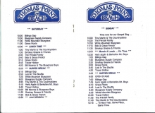 PROG-0002, 1982 Thomas Point Beach Bluegrass Festival, Program Schedule