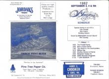 PROG-0003, 1982 Thomas Point Beach Bluegrass Festival, Friday Schedule