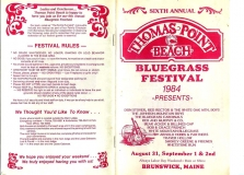 PROG-0005, 1984 Thomas Point Beach Bluegrass Festival, Front & Back Covers