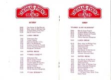 PROG-0007, 1984 Thomas Point Beach Bluegrass Festival, Saturday & Sunday Schedules