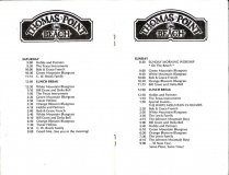 PROG-0010, 1986 Thomas Point Beach Bluegrass Festival, Saturday & Sunday Schedules