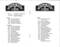 PROG-0012, 1987 Thomas Point Beach Bluegrass Festival, Friday-Sunday Schedule