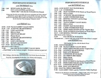 PROG-0020, 2012 Thomas Point Beach Bluegrass Festival, Thursday-Sunday Schedule